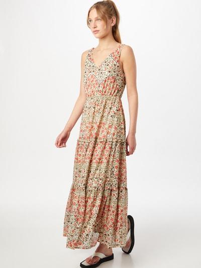 Rochie 'BITTEN' VERO MODA pe galben pastel / verde închis / roși aprins, Vizualizare model