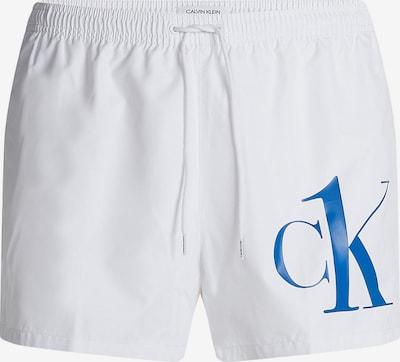 Calvin Klein Swimwear Plavecké šortky - modrá / bílá, Produkt