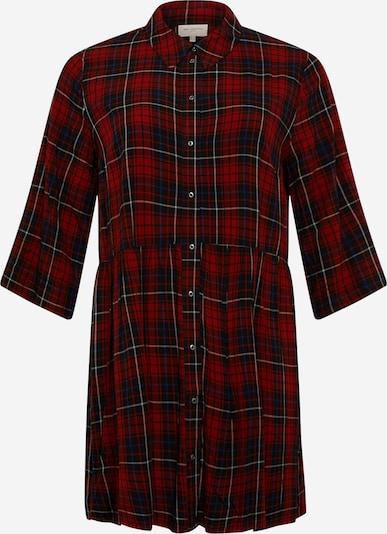 ONLY Carmakoma Sukienka koszulowa 'Chicagos' w kolorze beżowy / czerwonym, Podgląd produktu