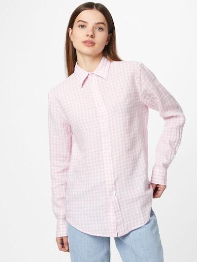 POLO RALPH LAUREN Blusa en rosa claro / blanco, Vista del modelo