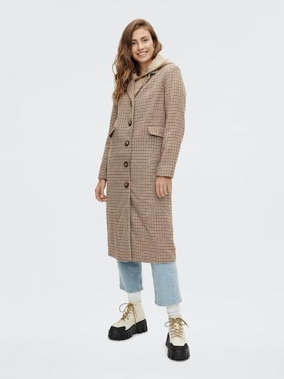 PIECES Mantel 'Farra' in beige / braun / schwarz, Modelansicht