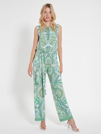 Ana Alcazar Combinaison 'Celas' en vert / blanc, Vue avec modèle