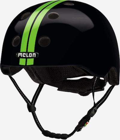 Melon Helm 'Straight Green Black' in hellgrün / schwarz, Produktansicht