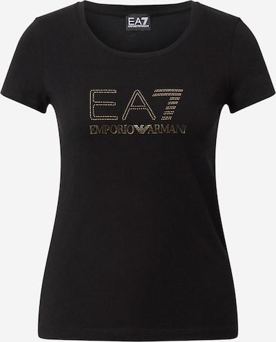 EA7 Emporio Armani T-Shirt in gold / schwarz, Produktansicht