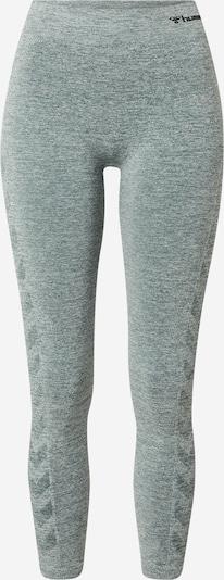 Hummel Pantalon de sport en vert chiné / noir, Vue avec produit
