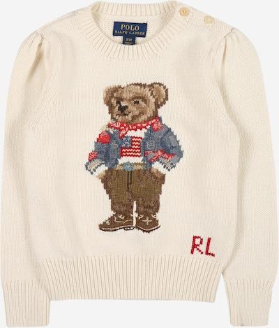 Polo Ralph Lauren Pullover en creme / braun / mischfarben / rot, Vue avec produit