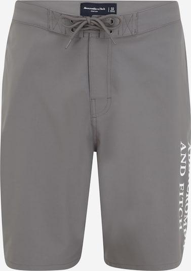 Abercrombie & Fitch Szorty kąpielowe do kolan w kolorze kamień / białym, Podgląd produktu