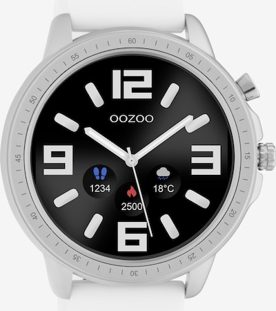 OOZOO Uhr in schwarz / weiß, Produktansicht