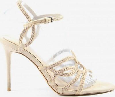 ZARA High Heel Sandaletten in 38 in creme, Produktansicht