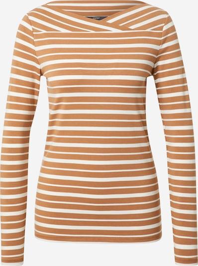 Tricou Esprit Collection pe maro caramel / alb, Vizualizare produs