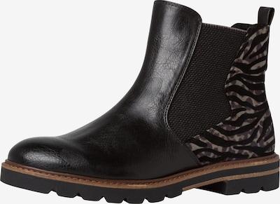 MARCO TOZZI Chelsea Boots en beige / noir: Vue de face