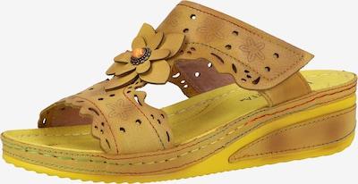 Laura Vita Pantolette in gelb / safran, Produktansicht