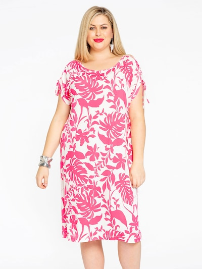 Yoek Kleid 'Selva' in pink / weiß, Modelansicht