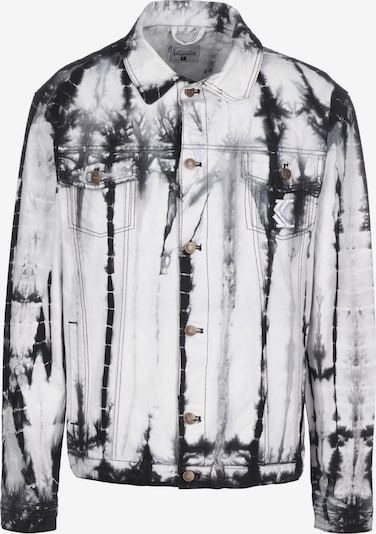 Karl Kani Jacke 'OG Trucker' in schwarz / weiß, Produktansicht