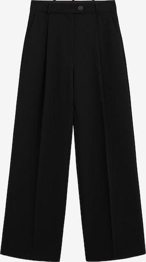 MANGO Bandplooibroek 'Betty' in de kleur Zwart, Productweergave