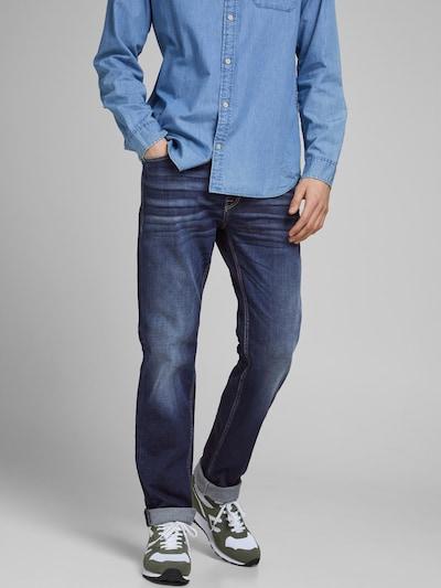 JACK & JONES Jeansy 'Clark' w kolorze ciemny niebieskim, Podgląd na modelu(-ce)