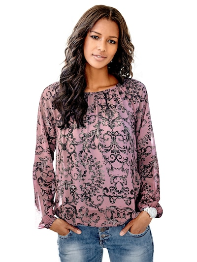 Bluză heine pe roz / negru, Vizualizare model