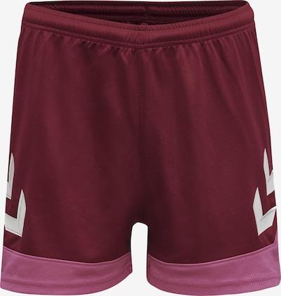 Hummel Sportbroek in de kleur Rosa / Robijnrood / Wit, Productweergave
