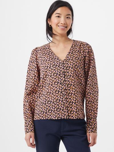 Y.A.S Bluse 'NANNA' in pastellgelb / rosa / schwarz, Modelansicht