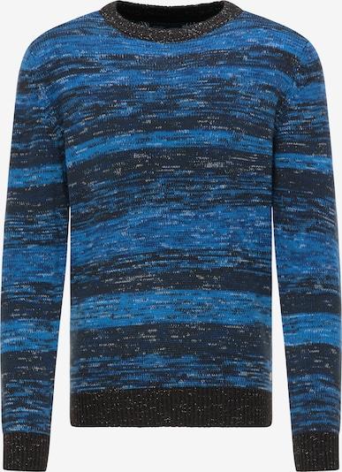 Petrol Industries Trui in de kleur Blauw / Donkerblauw / Zwart, Productweergave