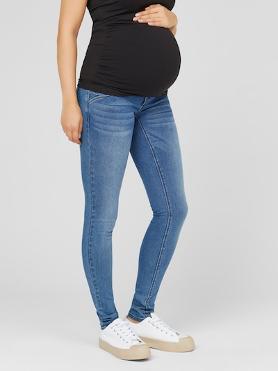 MAMALICIOUS Jeans in de kleur Blauw denim / Grijs, Modelweergave