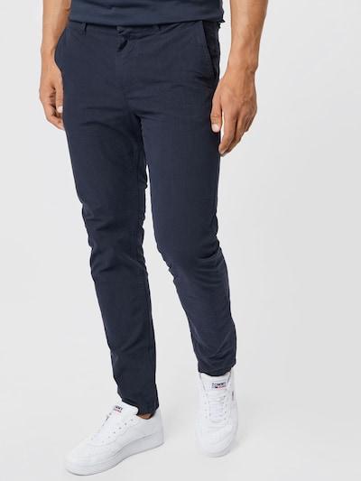 BOSS Casual Pantalon chino en bleu marine: Vue de face