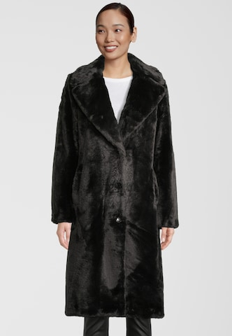 Frieda & Freddies NY Mantel Fake Fur in Schwarz