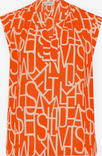 Cartoon Bluse in orange / weiß, Produktansicht