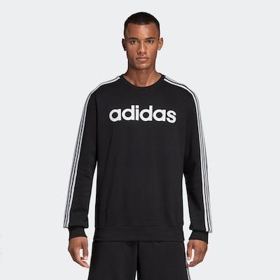 ADIDAS PERFORMANCE Sportska sweater majica u crna / bijela: Prednji pogled