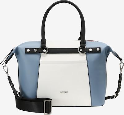 L.CREDI Bowlingtasche 'GILIAN' in blau / schwarz / weiß, Produktansicht