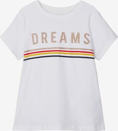 NAME IT T-Shirt 'Franseska' in dunkelblau / gelb / rot / offwhite, Produktansicht