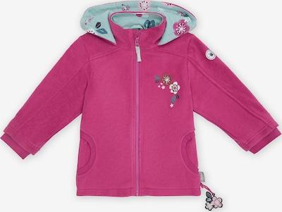SIGIKID Fleecejacke in braun / mint / dunkelgrün / pink / rosa / weiß, Produktansicht