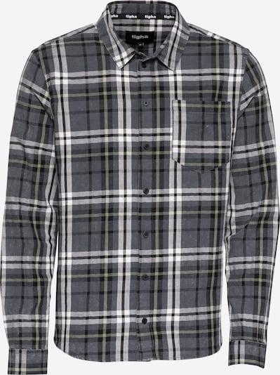 tigha Overhemd 'Almar' in de kleur Pasteelgeel / Zilvergrijs / Zwart / Wit, Productweergave