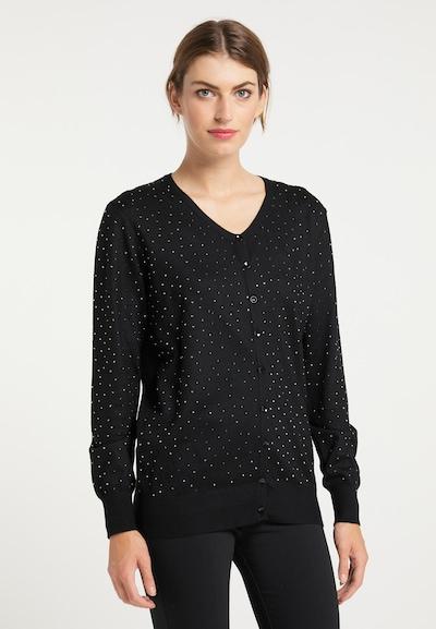 usha BLACK LABEL Cardigan in schwarz / silber, Modelansicht
