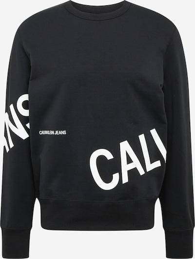 Calvin Klein Jeans Sweater majica u crna / bijela: Prednji pogled