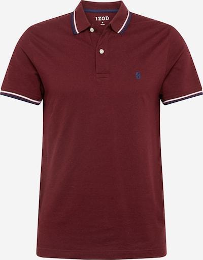 IZOD Poloshirt in weinrot / weiß, Produktansicht