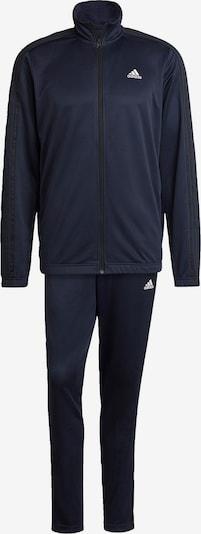 ADIDAS PERFORMANCE Trainingsanzug in dunkelblau / schwarz / weiß: Frontalansicht