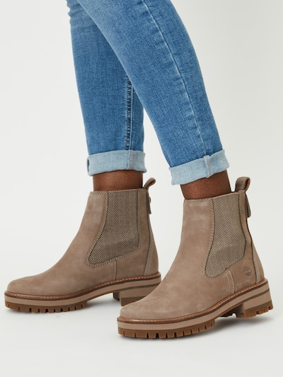TIMBERLAND Chelsea Boots 'Courmayeur Valley' in Taupe: Frontal view