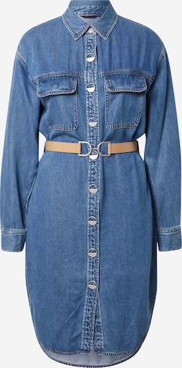 Rochie tip bluză Salsa pe albastru denim / maro deschis, Vizualizare produs