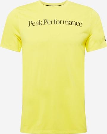 PEAK PERFORMANCE Sportshirt 'Alum' in Gelb