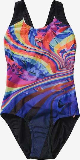 SPEEDO Badeanzug in blau / mischfarben / schwarz, Produktansicht
