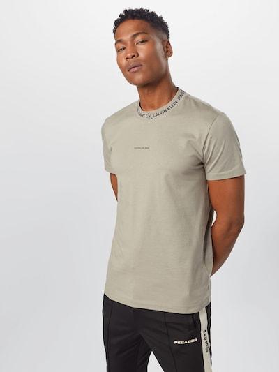 Calvin Klein Jeans Majica   bež / črna barva: Frontalni pogled