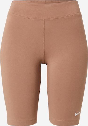 Nike Sportswear Tajice u smeđa / bijela, Pregled proizvoda