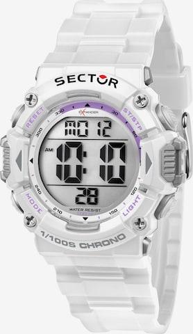 SECTOR Uhr in Weiß