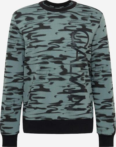 Calvin Klein Sweatshirt 'ICONIC ABSTRACT' in de kleur Mintgroen / Zwart, Productweergave