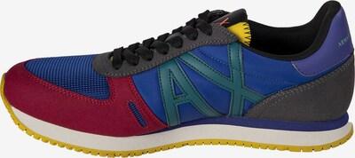 ARMANI EXCHANGE Sneaker in royalblau / gelb / grün / pitaya, Produktansicht