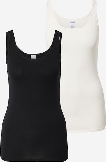 SCHIESSER Unterhemd in schwarz / weiß, Produktansicht