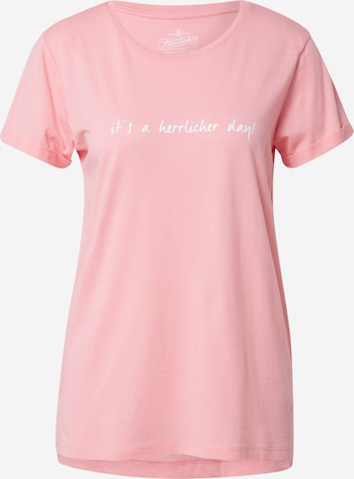 Tricou 'Kendall' Herrlicher pe roz / alb, Vizualizare produs