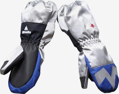 WeeDo Handschoenen 'Powdo Commander' in de kleur Blauw / Zilver, Productweergave