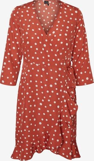 VERO MODA Robe en rouge orangé / blanc, Vue avec produit